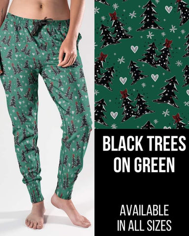 Black Trees on Green Jogger