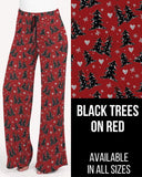 Black Trees on Red Lounge Pants