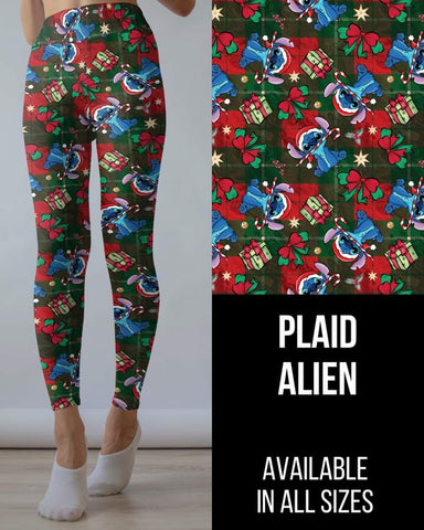 Plaid Alien Leggings