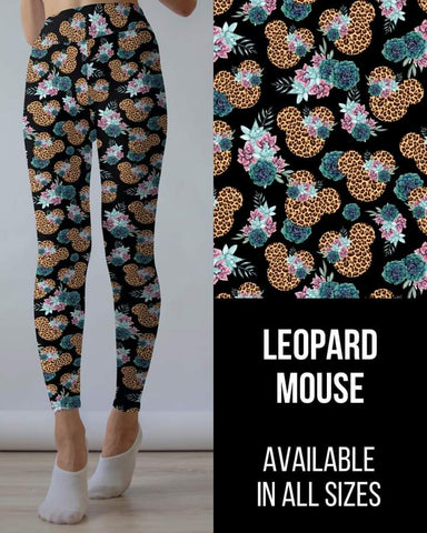 Leopard Mouse Leggings