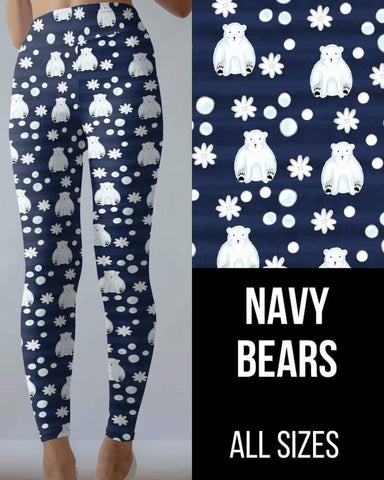 Navy Bears Leggings