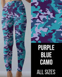 Purple Blue Camo Leggings