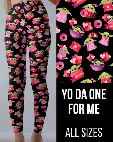 Yoda One for Me Leggings