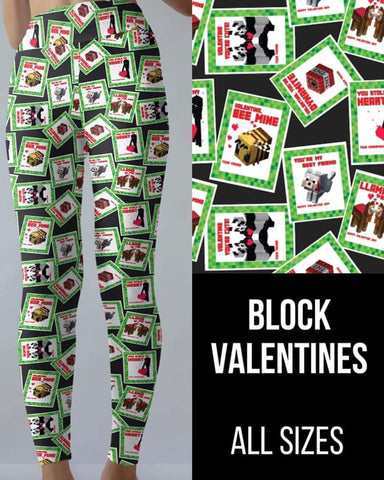Block Valentine's Leggings