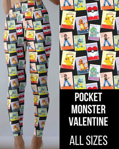 Pocket Monster Valentine Leggings