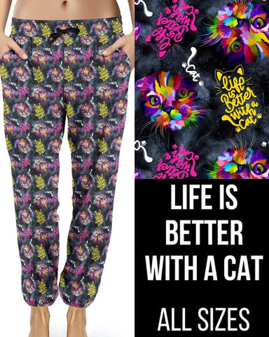 Life Better w Cat Joggers