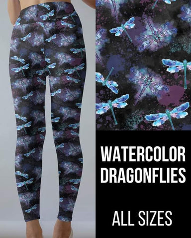 Watercolor Dragonflies Leggings