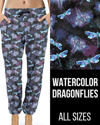 Watercolor Dragonflies Joggers