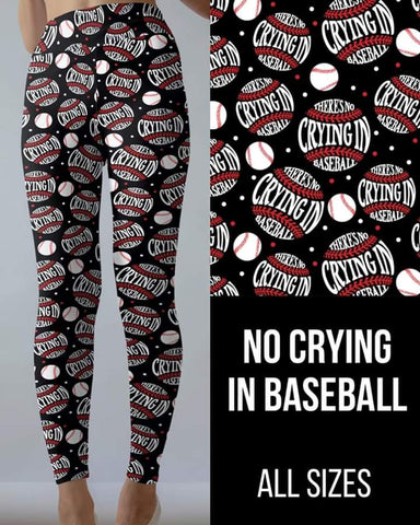 No Crying in Baseball Leggings