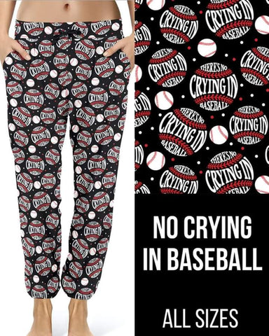 No Crying in Baseball Joggers