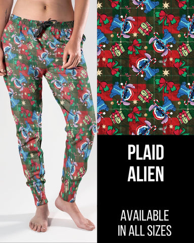 Plaid Alien Jogger