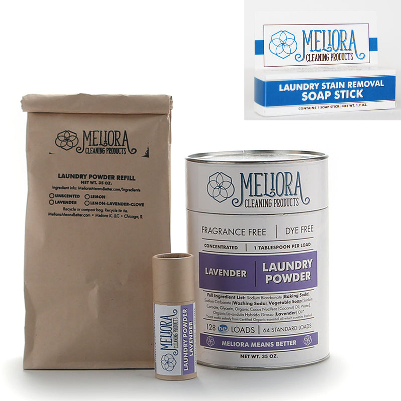 MELIORA CLEANING PRODUCTS BETTER NON-TOXIC LAUNDRY BUNDLE