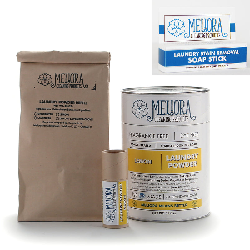 MELIORA CLEANING PRODUCTS BETTER MADE SAFE LAUNDRY BUNDLE