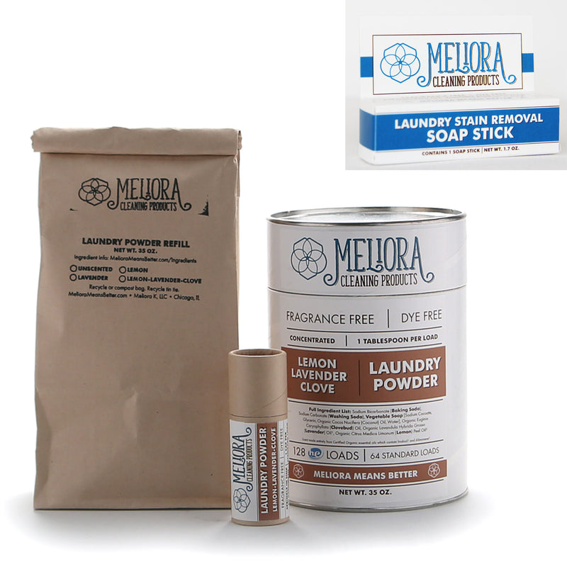 MELIORA CLEANING PRODUCTS BETTER TOXIC FREE LAUNDRY BUNDLE