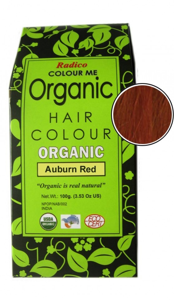 toxic free auburn red hair color dye