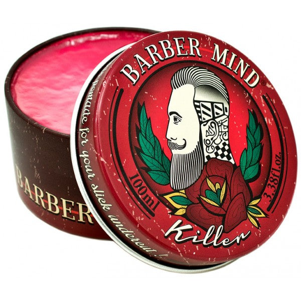 Barber Mind Killer Pomade - Fijación alta Brillo alto