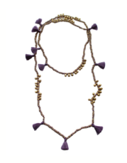 Lilac Farah Tassel Necklace