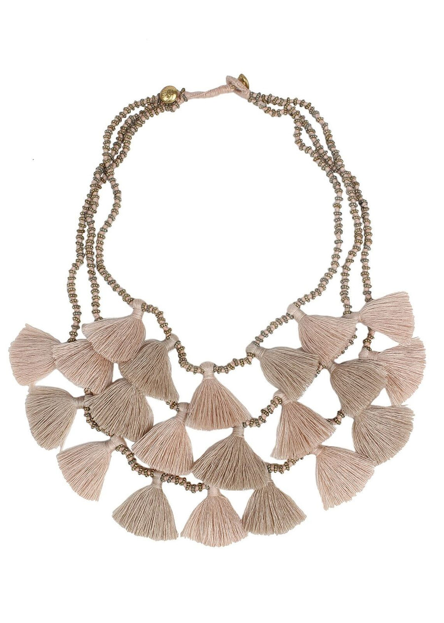 Sand Gia Multi Strand Tassel Necklace