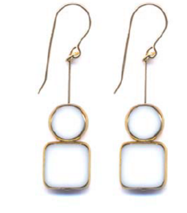 Stacked Circle & Square Earring