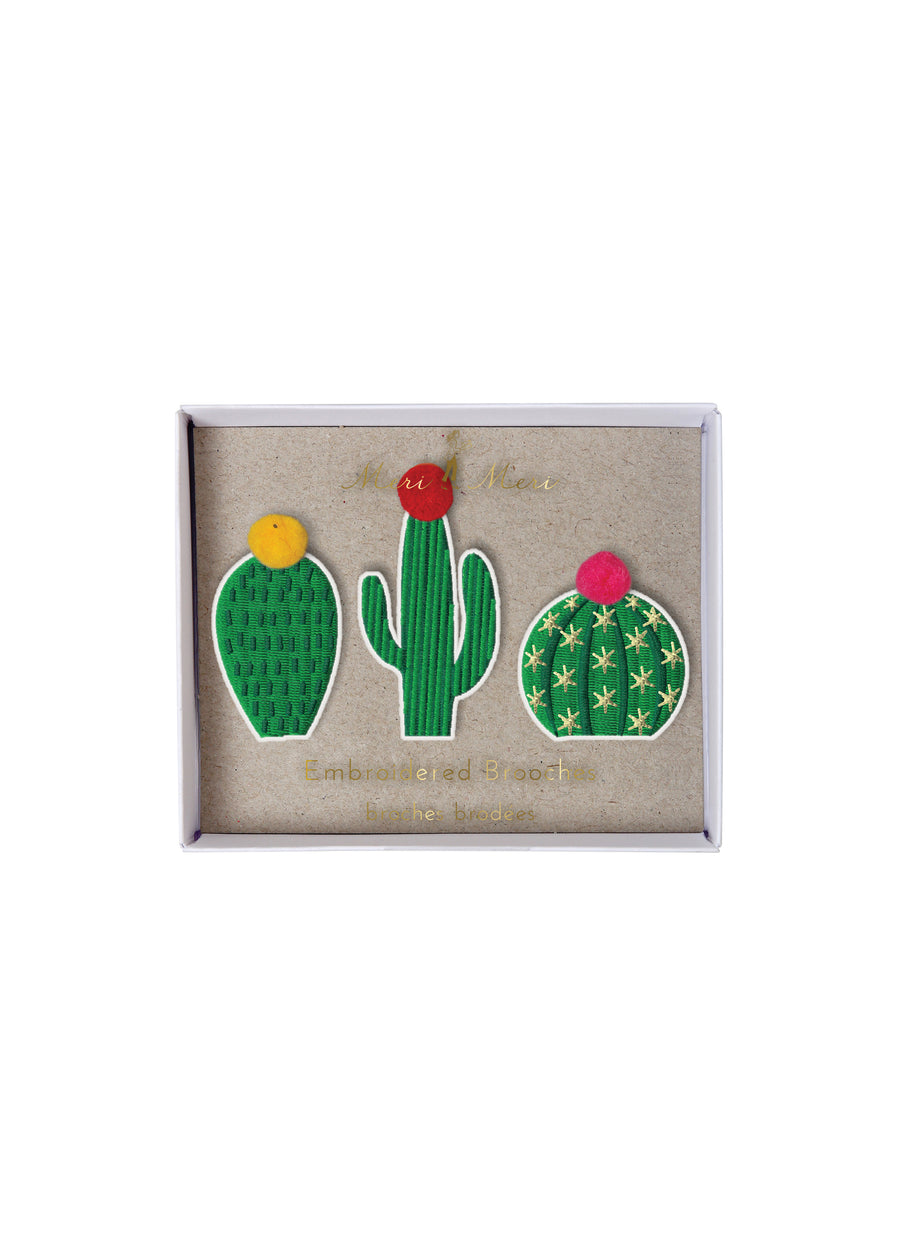 3 Cactus Brooches