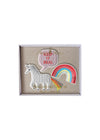 3 Unicorn Brooches