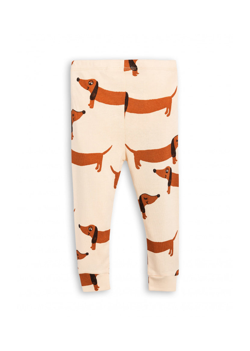 Kids Beige Dog Leggings