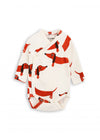 Off White Dog  Wrap Onesie