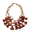 Camel Gia Multi Strand Tassel Necklace