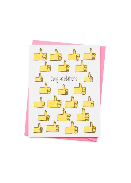 Congrats Thumbs Card