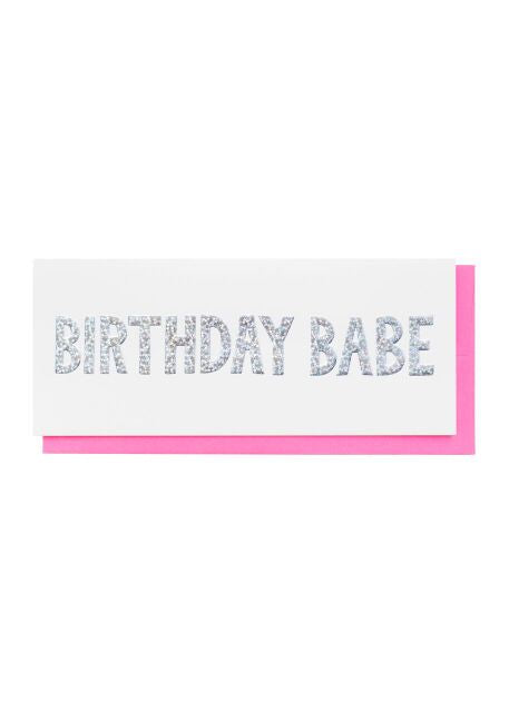 Holographic Birthday Babe Card