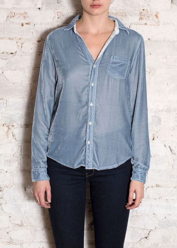 Lt. Blue Velvet Sloane Button Down Shirt