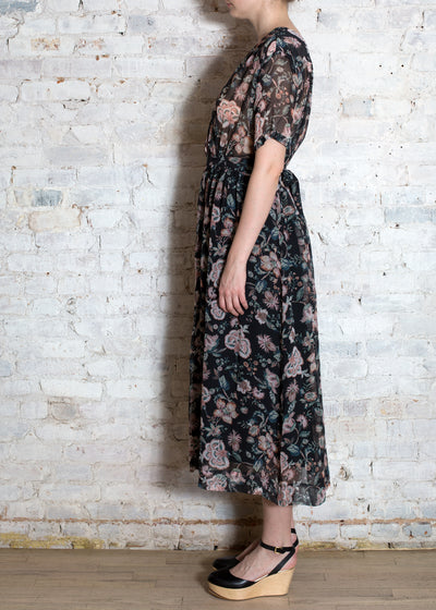 Tropical Black Aster Dress