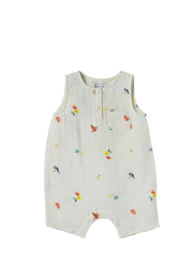 Baby White Tropical Nino Onesie