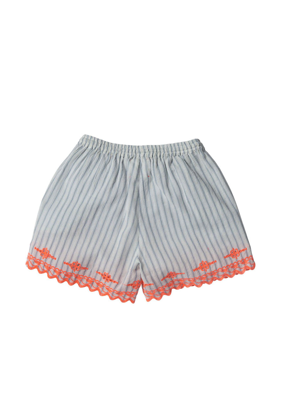 Kids Blue Stripe Doline Short