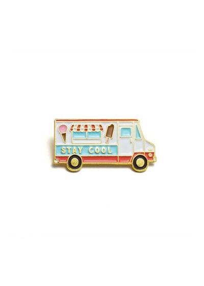 Ice Cream Truck Enamel Pin-Red/Blue