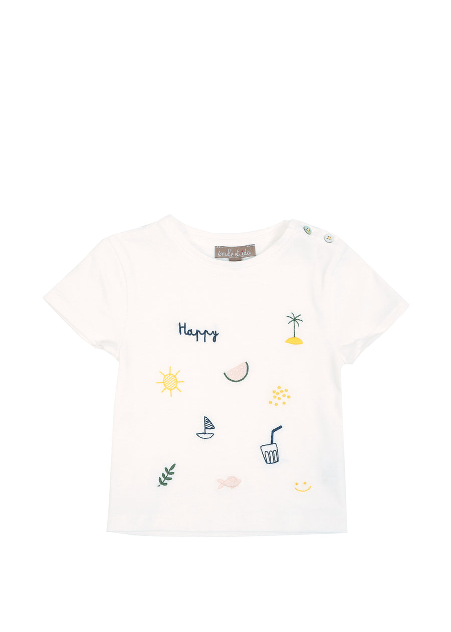 Kids Chalk Embroidered Tee