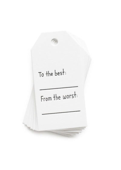 To The Best Gift Tags