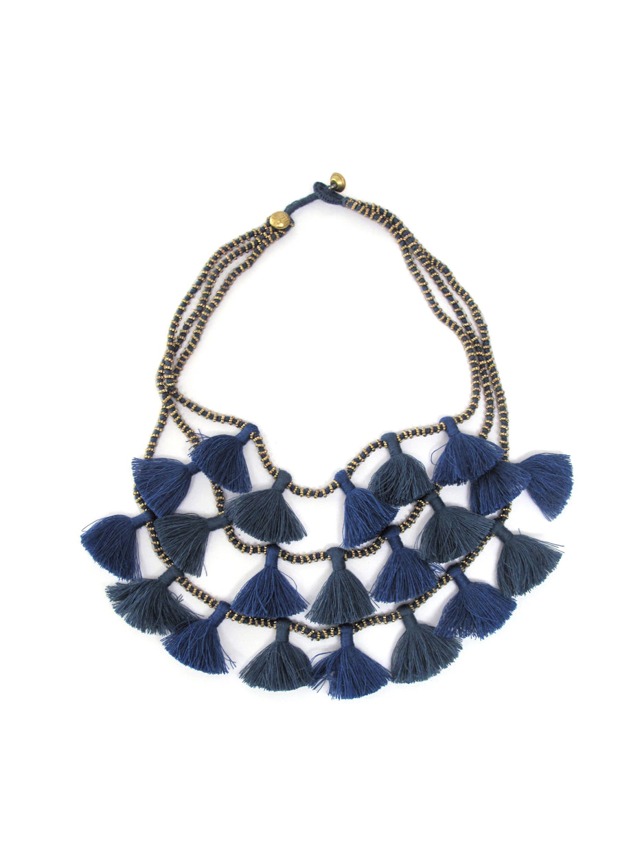 Petrol Gia Necklace by Bluma Project