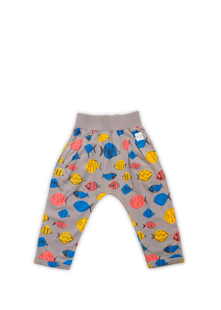 Kids Gray Fish Harem Pants