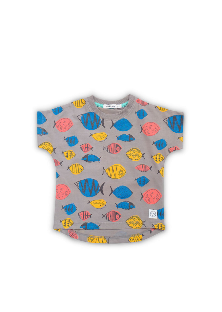 Kids Gray Tuna Fish Tee