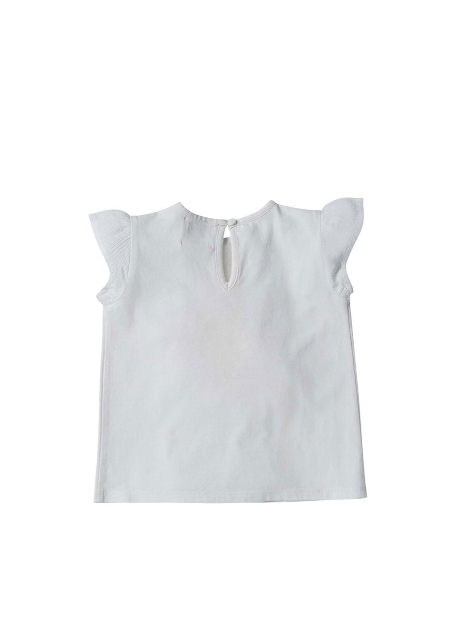 Girls White Juicy Ruffle Tee