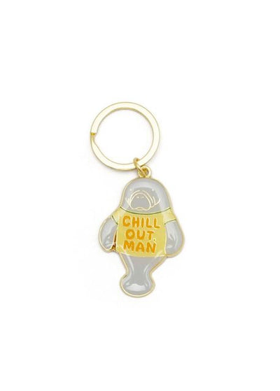 Chill Out Enamel Keychain by Lucky Horse