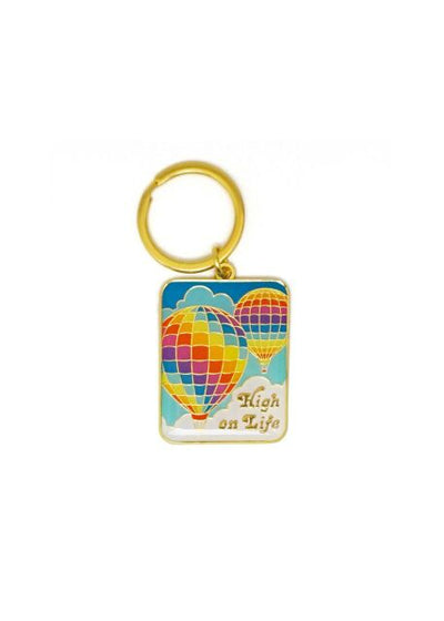 High on Life Enamel Keychain by Lucky Horse