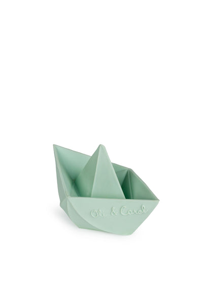 Mint Origami Boat Bath Toy