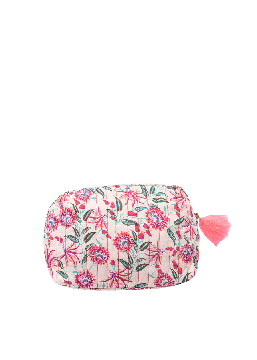 Pink Flower Manon Large Pouch
