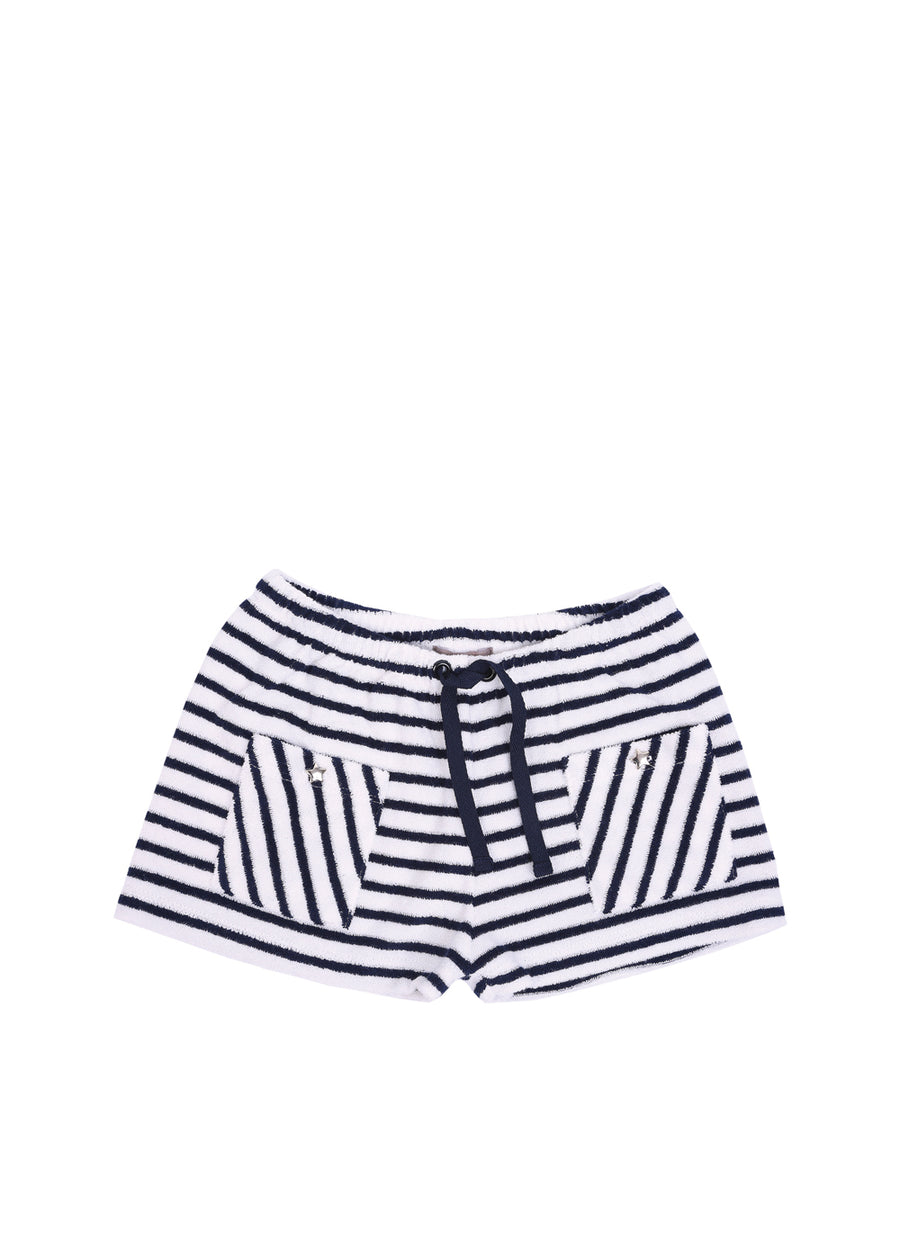 Kids Marine Striped Terry Short