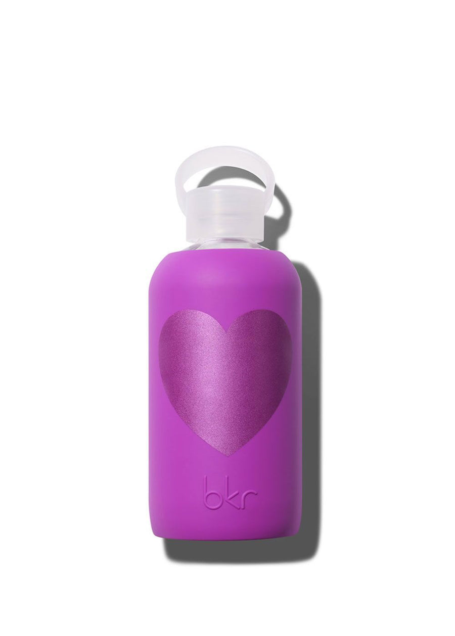 Fuchsia w/Fuchsia Heart Water Bottle