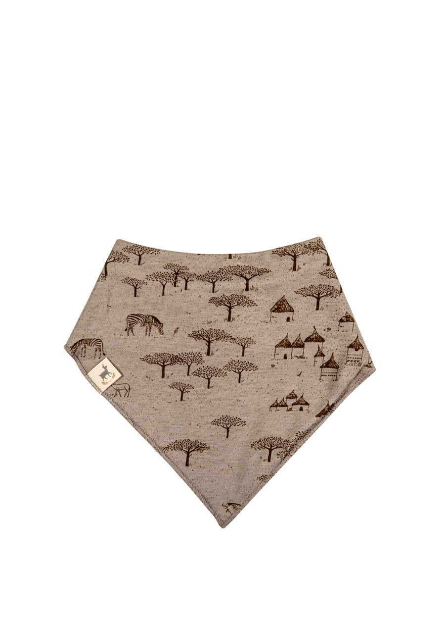 Taupe/Green Serengeti + Big Cats Bandana