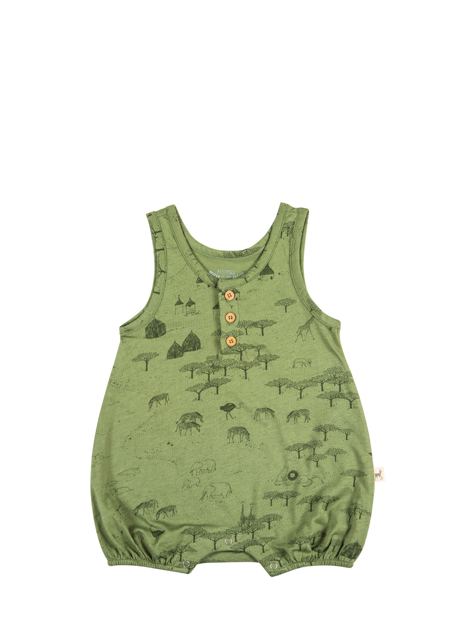 Baby Vineyard Green Serengeti Romper