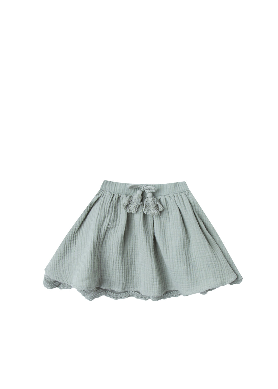 Girls Seafoam Lace Skirt